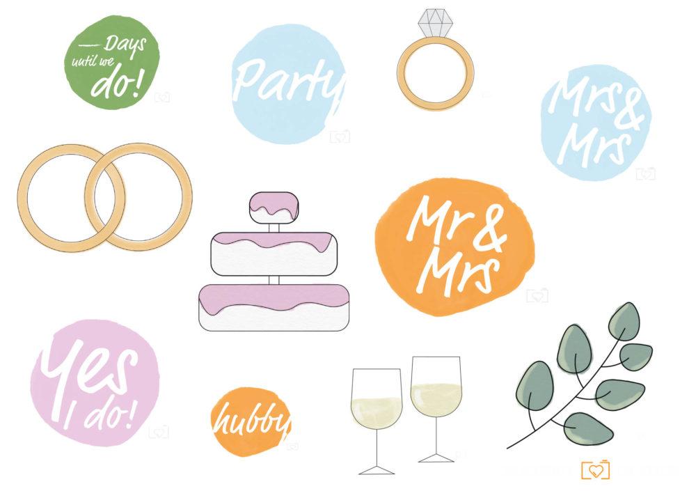 """Kostenlose Story-Sticker """"Wedding"""""""