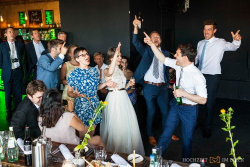 Hochzeitsfeier in der Location