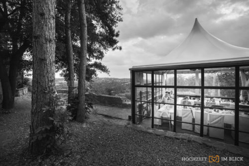 Pavilion an der Hochzeitslocation Burg Blankenstein, fotografiert von Hochzeitsfotograf Richard.