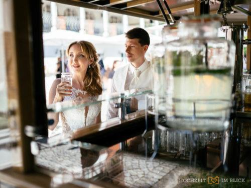 Ein Limonadenwagen an der Hochzeitslocation Hoher Darsberg