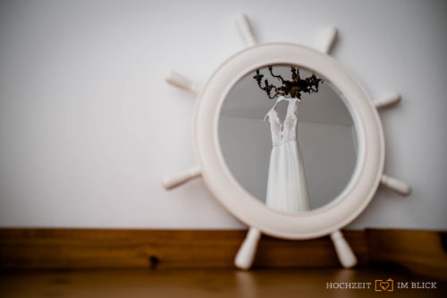 Hochzeitsfotograf Berlin, Hochzeitskleid, Spiegel