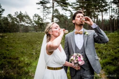 Hochzeitshooting im Wald bei Schwarmstedt im Heidekreis
