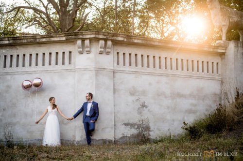 Hochzeitsfoto eines Brautpaares bei Berlin