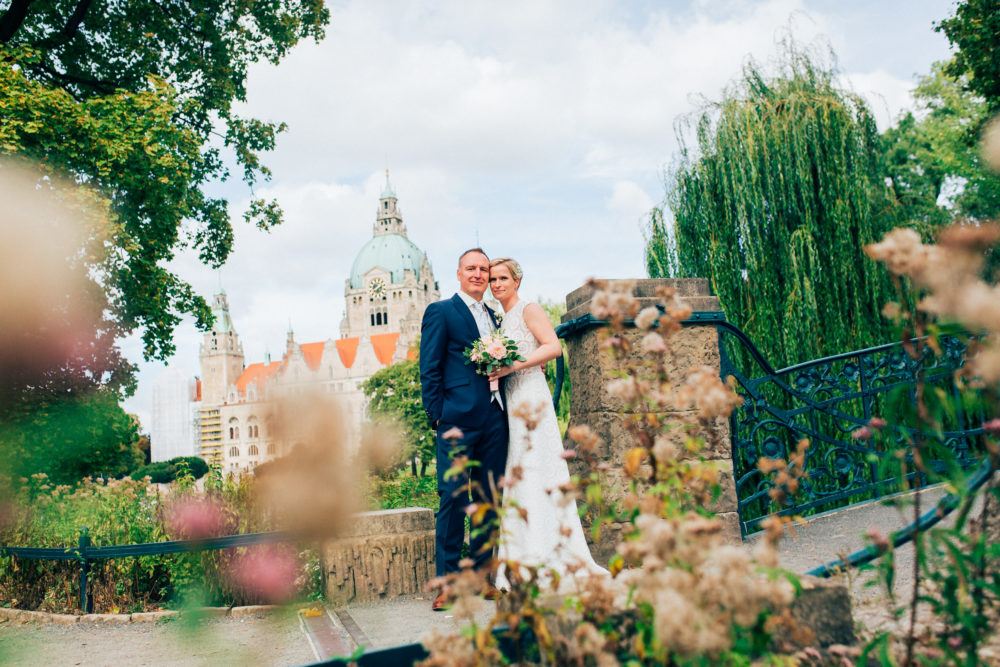 Hochzeitsfotos in Hannovers Maschpark
