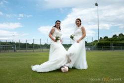Hochzeit auf dem Fußballplatz